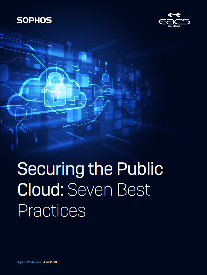 Sophos Whitepaper - Best Practice for Securing the Public Cloud