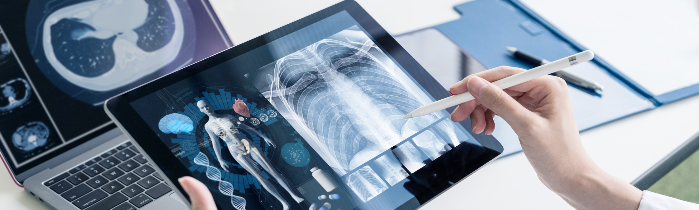 Medical technology concept. Med tech. Electronic medical record.